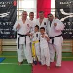 Trener Janusz, Dariusz Pająk, Trener Andrzej Zaleski i Rudik Sagrunov z Ukrainy