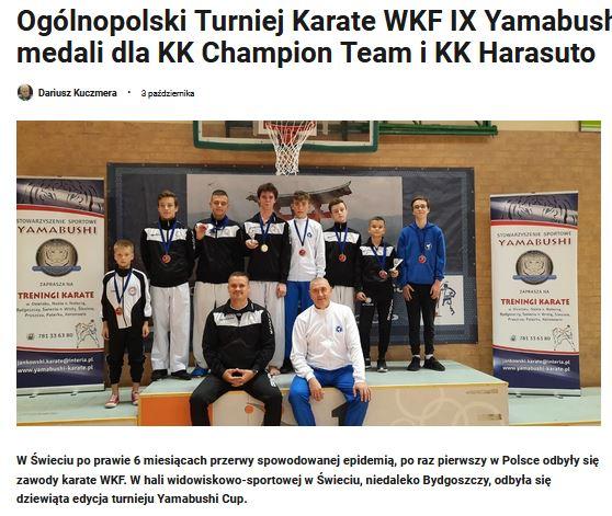 Artykuł o zawodach Yamabushi Cup