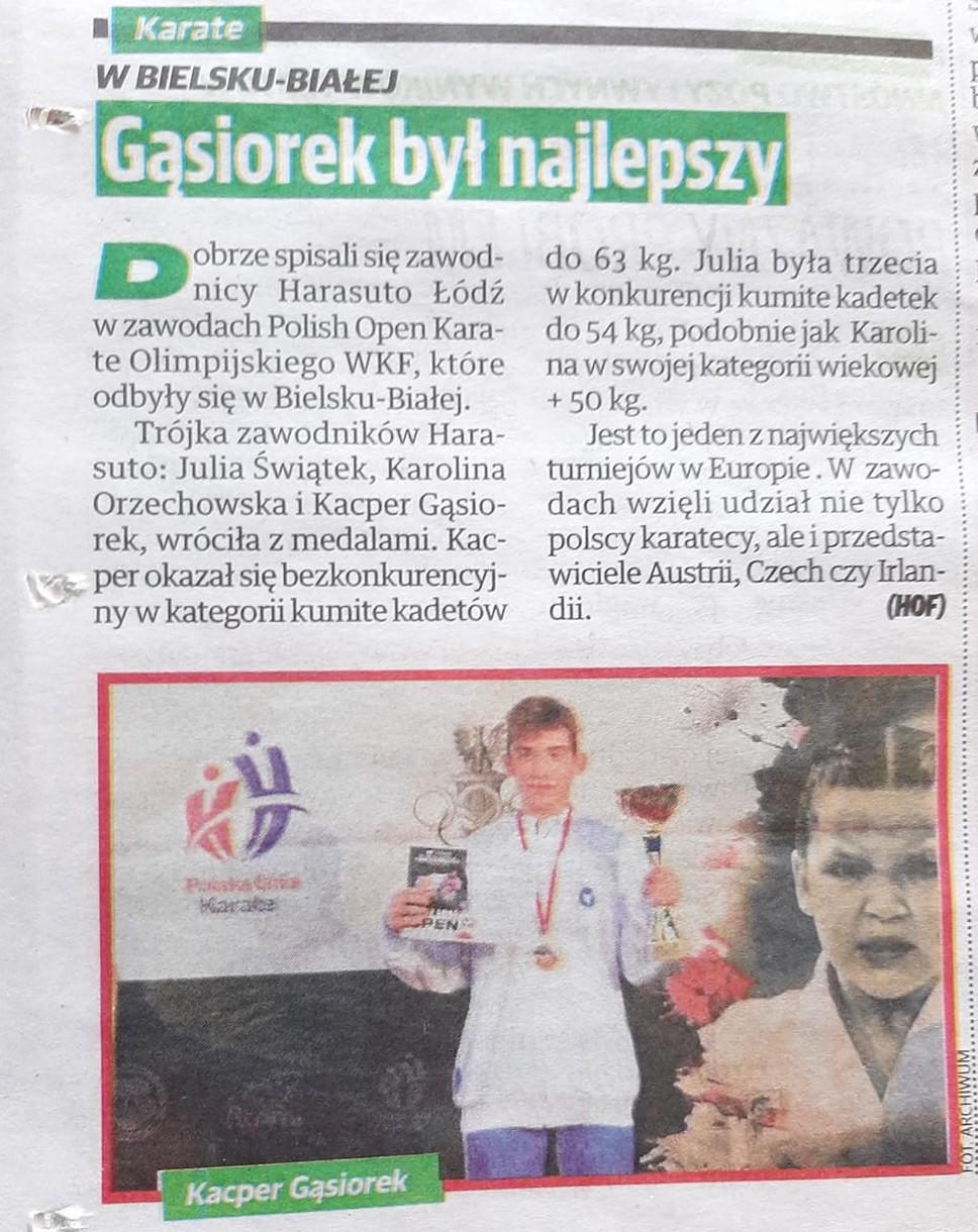 Kacper wygrywa Polish Open
