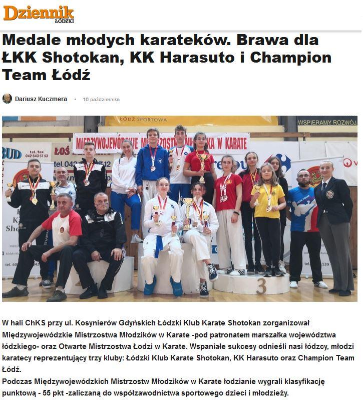 MMM oraz Mistrzostwa Łodzi - zawodnicy z trzech różnych klubów