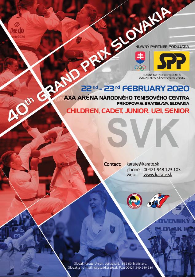 40th GRAND PRIX SLOVAKIA - poster