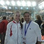 Nasza trenerka i zawodniczka Kinga Harast wraz z multimedalistą i gwiazdą karate WKF - Antonio Diaz z Wenezueli