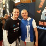 trener Janusz Harast z Juniorem Lefevrem na zgrupowaniu w Umag, Chorwacja