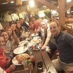 Obóz klubowy Harasuto w Jarosławcu - zaproszone gwiazdy światowego karate na kolacji (Anastasia Velozo Miastkovska, Christian Gruner, Sophie Wachter)