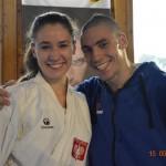 Kinga Harast i gwiazda karate WKF - Stanislav Horuna z Ukrainy