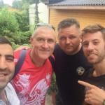 Janusz Harast i Andrzej Zaleski z gwiazdami WKF - Rudik Sagrunov i George Tzanos