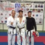 Łukasz Pająk i gwiazdy karate WKF - Noah Bitsch i George Tzanos